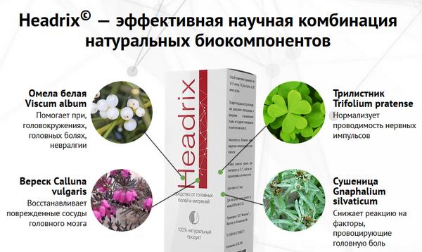 Headrix – натуральное средство от головной боли и мигрени