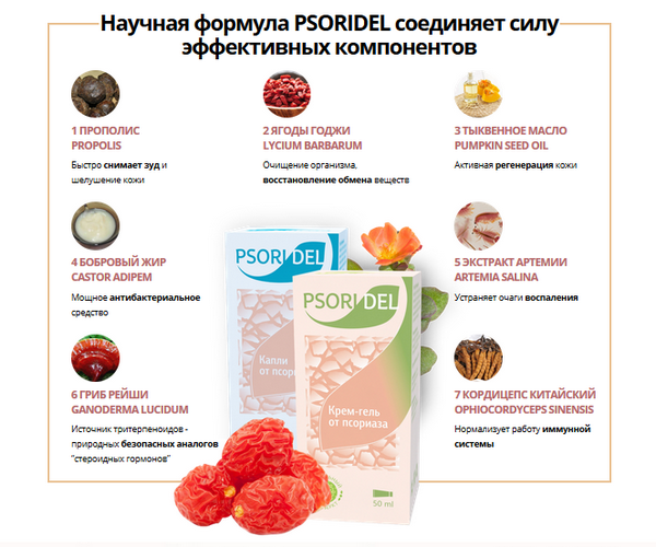 "Состав ""Psoridel"""