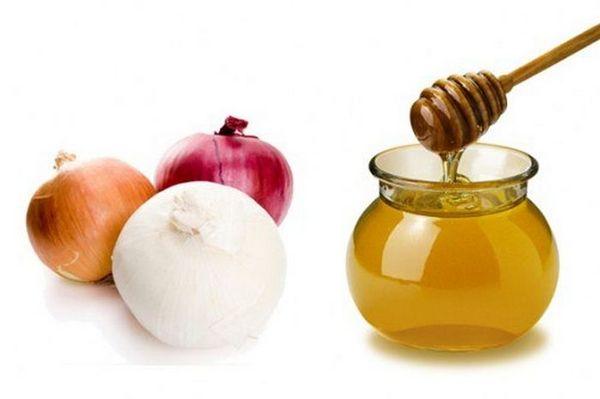 Маска из лука и мёда