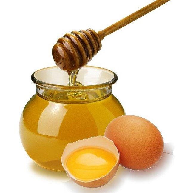 Маски из мёда и яиц