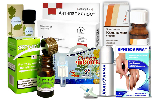 Препараты против папиллом