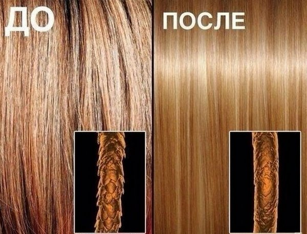 Действие ботокса для волос