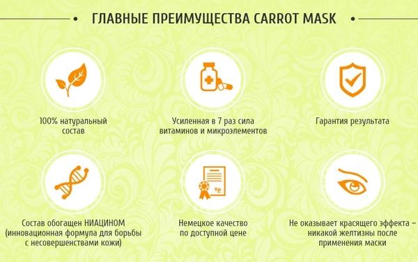 """Плюсы """"Carrot mask"""""""