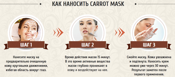"Применение ""Carrot mask"""