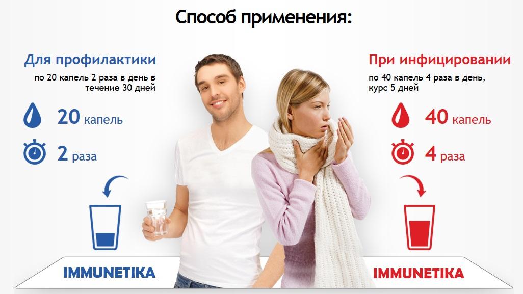 Применение Иммунетика