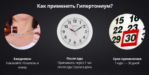 """Применение средства """"Гипертониум"""""""